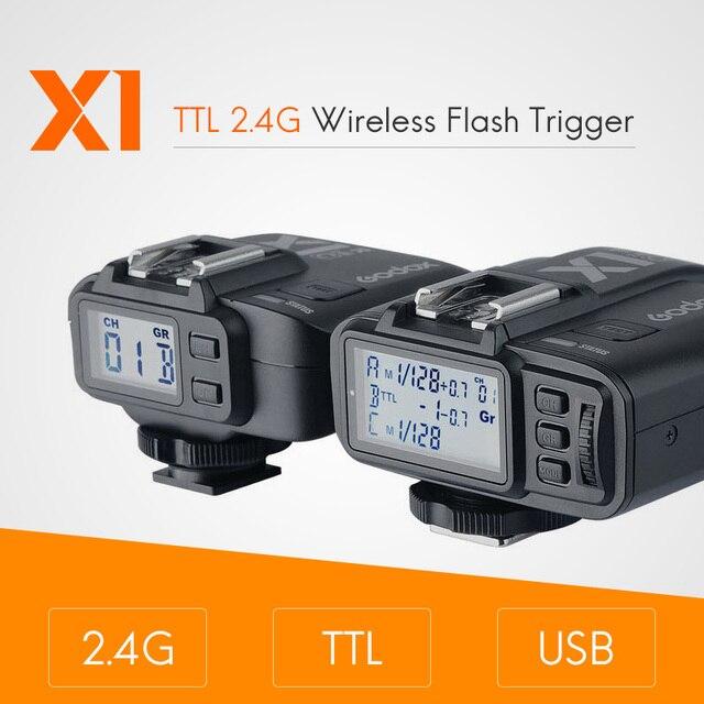Godox X1 zestaw TTL 2.4G bezprzewodowy nadajnik wyzwalania lampy błyskowej i odbiornik dla Canon dla Nikon dla Sony godoxTT685 V860 Flash speedlite