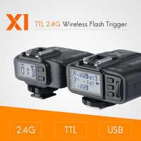 Godox X1 kit TTL 2.4G Wireless Flash Trigger Transmitter & Receiver For Canon for Nikon for Sony godoxTT685 V860 Flash speedlite