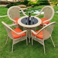 На открытом воздухе пэ ротанг стул сад ротанг стулья журнальный столик на открытом воздухе мебель cafechairs