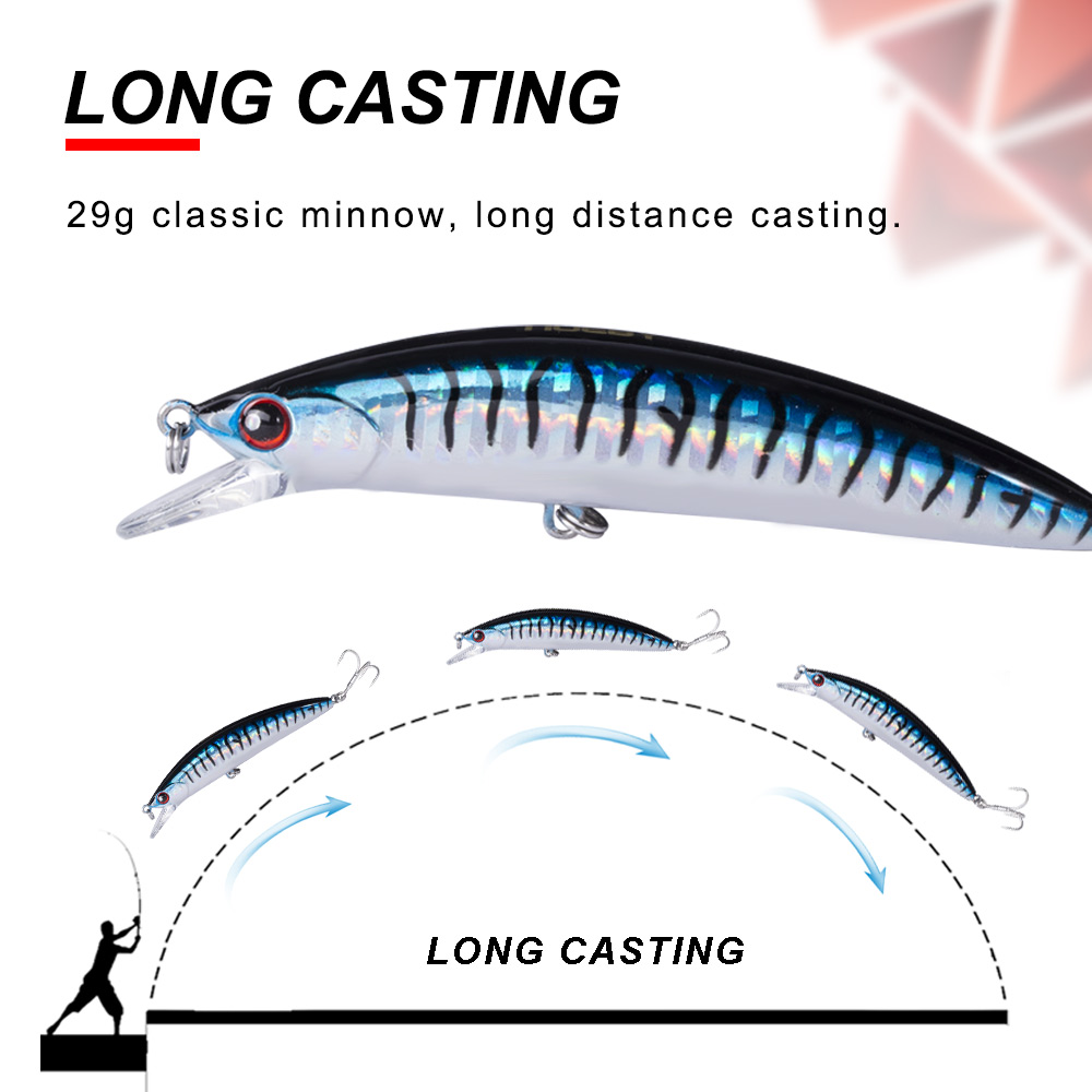 Image 3 - NOEBY Sinking Minnow ABS Lure 90mm/29g Bass Pike Walleye Trout Plastic Fishing Wobbler Hard Baits Swimbaits Artificial Lure Sea-in Fishing Lures from Sports & Entertainment