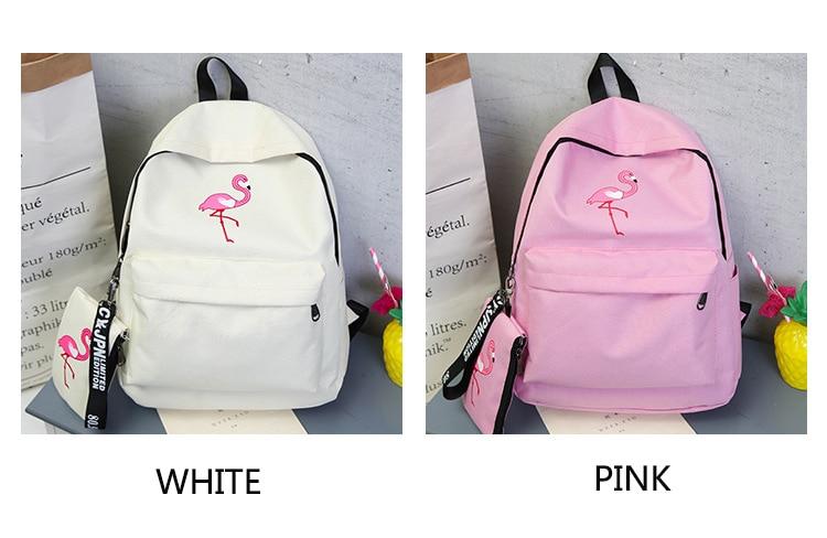 HTB1I3MUKf5TBuNjSspcq6znGFXaG Backpacks Brand Women Simple Flamingo Printing Backpack For Teenage Girls Laptop School Bags Mochila 2019