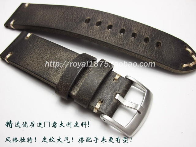 5fa72e703eb Homens Retro artesanato 18 19 21 22mm de Alta Qualidade cinta Genuína  Relógio de couro banda