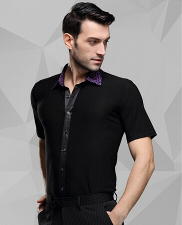 Picture of New Summer Short Sleeve Male Latin Dance SHIRT MENS Shirts Latin Trainew Male Adult Latin Dance SHIRT MENS Shirts Latin Trai
