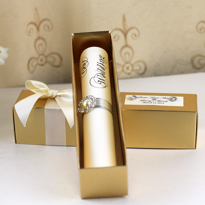 Buy golden wedding invitations and get free shipping on AliExpress.com