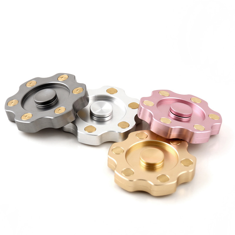 Revolver fidget spinner hand spinner metal high quality EDC ADHD anti stress stainless steel bearing Kid