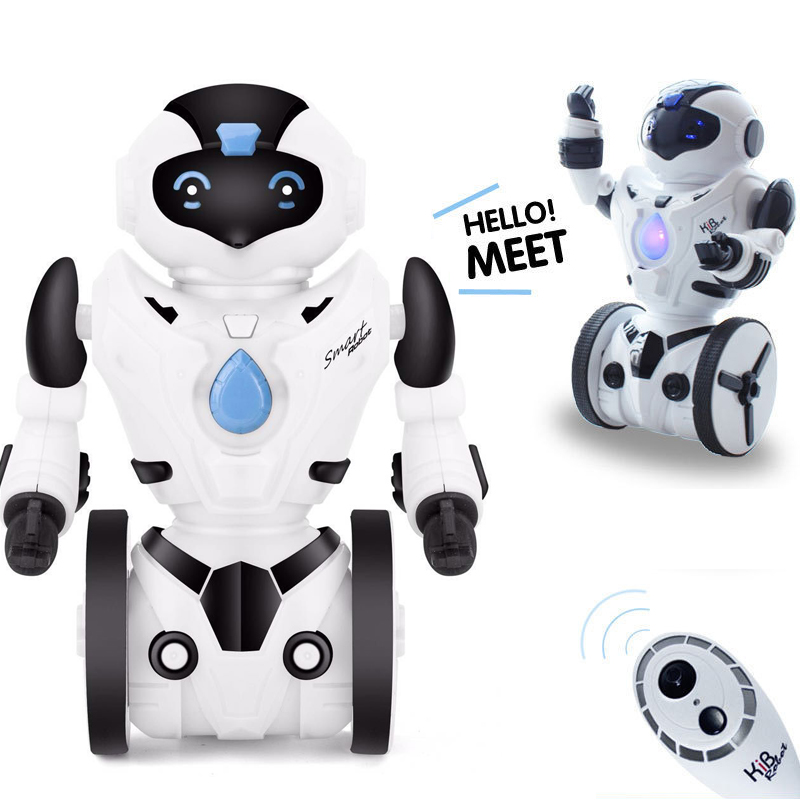 все цены на RC Robot Cute Remote Control Intelligent Robot For Children Kids Gift electric smart robot dog electronic interactive toys pets