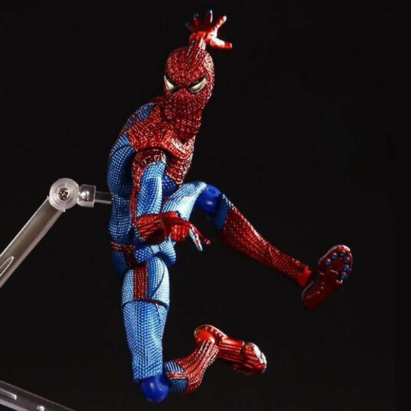 1 Pcs 15 CM The Amazing Spiderman Action Figure Figna 199 PVC Spiderman Collectible Model Doll Kids Toy Furnishing Articles