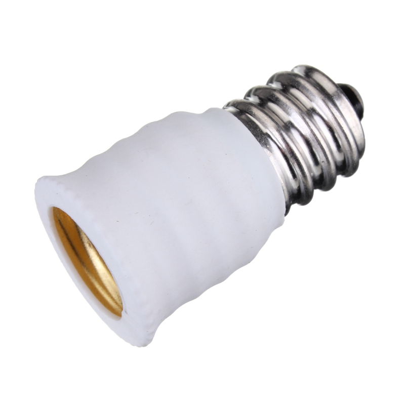 Smuxi <font><b>E12</b></font> To E14 Base LED Bulb Lamp Holder Light Adapter <font><b>Socket</b></font> Converter Black White Lighting Accessories Lamp Base image