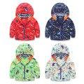 90-130cm Cute Dinosaur Spring Kids Jacket Boys Outerwear Coats Active Boy Windbreaker Cartoon Sport Suit for Children Kids Cloth