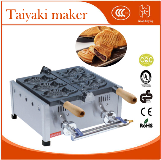 freeshipping Whosale Gas Japanese 3pieces Fish Taiyaki Baker  fish stuff donut maker famous snack equipment