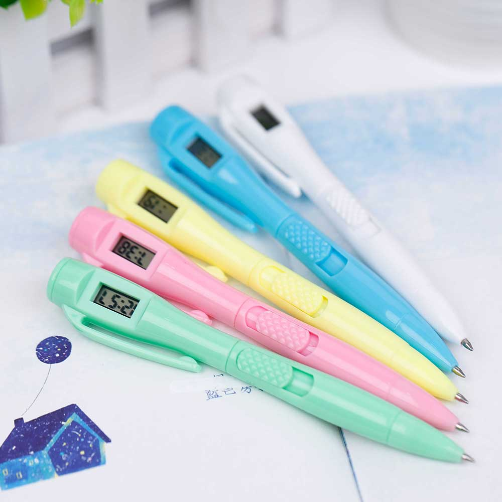 Creative Digital Clock Ballpoint Pen Electronic Pen Student Penetration Test TOMTOSH