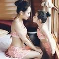 Новый горячая распродажа ребенок летом купальники малыша купальный 3 шт. мать и дочь семья взгляд носят бассейн