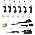 12 V Dimmable Recesso LEVOU Mini Sob As Luzes Do Gabinete Downlights Focos 6 Kit Lâmpadas com RF Controle remoto para Casa iluminação