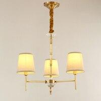 3 лампы Статуэтка люстра Хрустальная бронза домашний декор Блеск Lamparas art мини люстра для чтения комнаты коридора