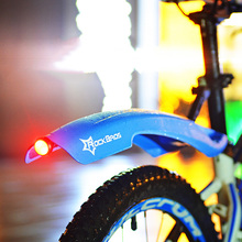 ROCKBROS Mudguard Cycling Mountain Bicycle Durable Fender MTB With LED Rear Light Bike Wings Accessories