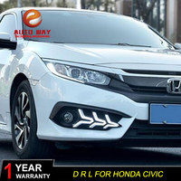 Free shipping 12V 6000k LED DRL Daytime running light case for Honda Civic fog lamp case for Honda Civic Fog light