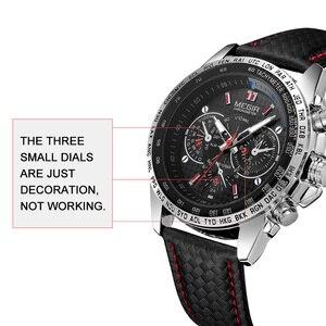 Image 5 - Megir Sport Heren Horloges Top Brand Luxe Quartz Mannen Horloge Mode Toevallige Zwarte Pu Band Klok Mannen Big Dial Erkek saat 1010
