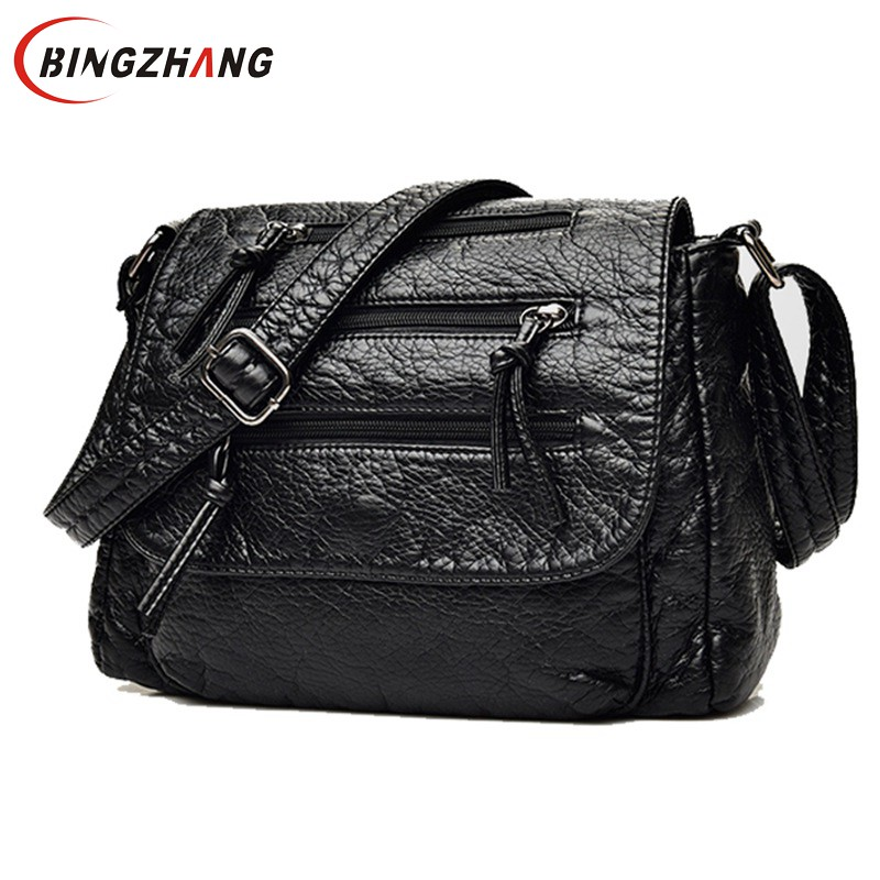 Brand Fashion Soft Leather Shoulder Bags Female Crossbody Bag Portable Women Messenger Bag Tote Ladies Handbag Bolsas L4-3178 women floral leather shoulder bag new 2017 girls clutch shoulder bags women satchel handbag women bolsa messenger bag