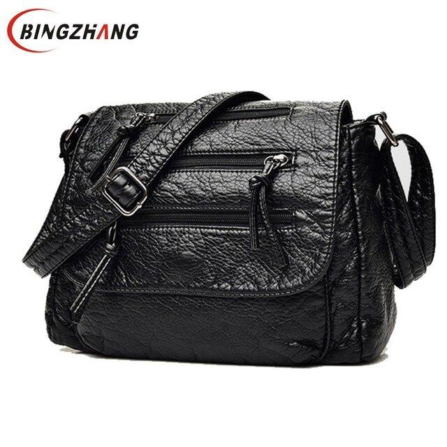 64c5fbfd8ea4 Brand Fashion Soft Leather Shoulder Bags Female Crossbody Bag Portable Women  Messenger Bag Tote Ladies Handbag Bolsas L4-3178