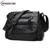 Brand Fashion Soft Leather Shoulder Bags Female Crossbody Bag Portable Women Messenger Bag Tote Ladies Handbag