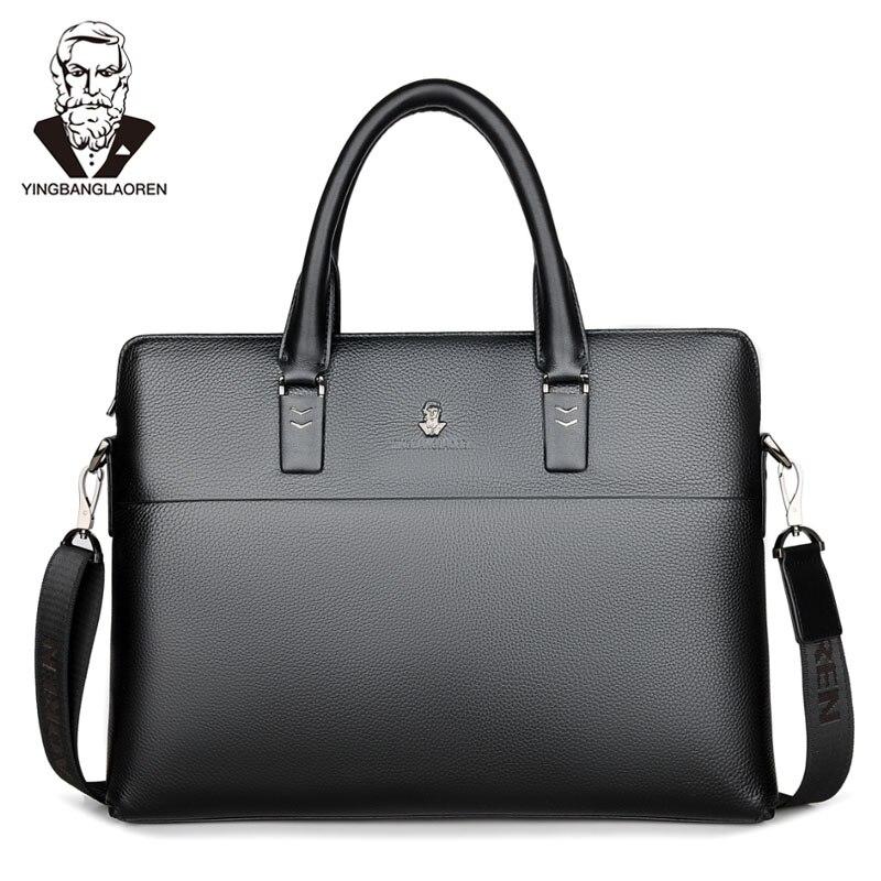 29f52c1a657ec جديد الرجال حقيبة الأزياء الأعمال الرجال الكتف حقيبة العلامة التجارية  الفاخرة عالية الجودة للماء بو الذكور