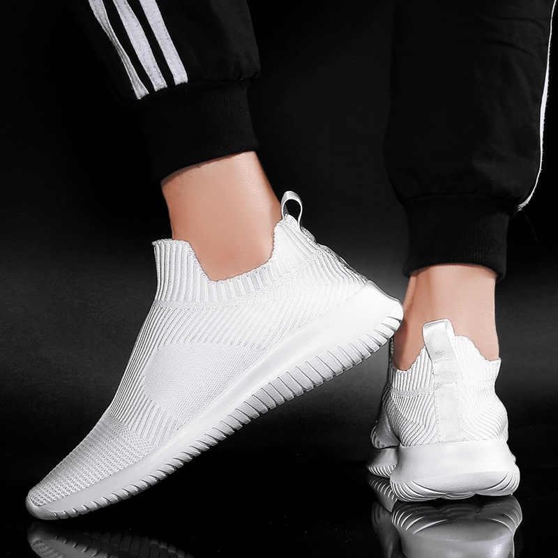 الرجال احذية الجري تنفس كبيرة الرياضة رياضية للنساء الأحذية يطير نسج في الهواء الطلق المدربين المشي رياضة الركض الأحذية