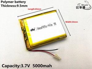 Image 3 - 2pcs/lot 3.7V,5000mAH,[955465] PLIB; polymer lithium ion battery / Li ion battery for tablet pc,power bank,E BOOK;