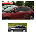 free shipping 304 stainless steel car window trim decoration for citroen c4 2004 2005 2006 2007 2008 2009 2010 hatchback 5 doors