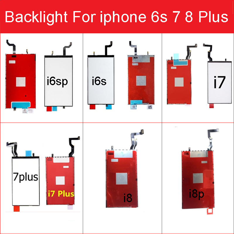 LCD Display Backlight Panel For IPhone 6s 7 8 Plus Lcd Screen Backlight Film With 3D Touch Function Flex Cable Replacement