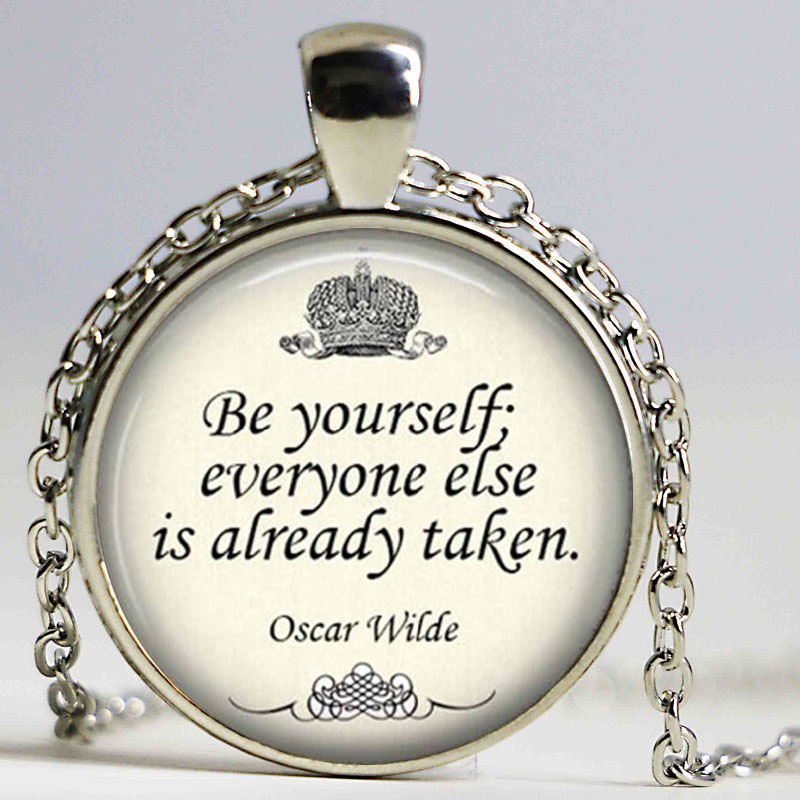 Unique necklace oscar wilde inspirational quote necklace pendant unique necklace oscar wilde inspirational quote necklace pendant inspirational jewelry necklace copper charm pendants in pendant necklaces from jewelry aloadofball Image collections