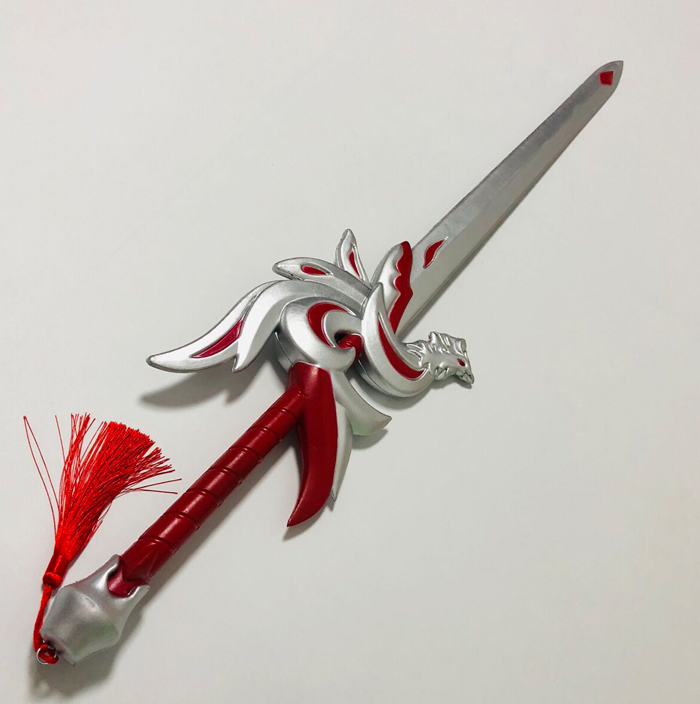 Halloween cosplay anime knife PU foam weapon props Li Bai Qinglian Jian children's toys