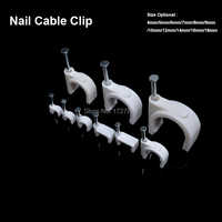 250pcs/lot Steel Circle Nail Clip 14mm Circle cable clips  fix the cable on the wall Steel Nail Cable Clip Electrical Wire Clip