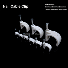 250pcs/lot Steel Circle Nail Clip 14mm cable clips  fix the on wall Cable Electrical Wire