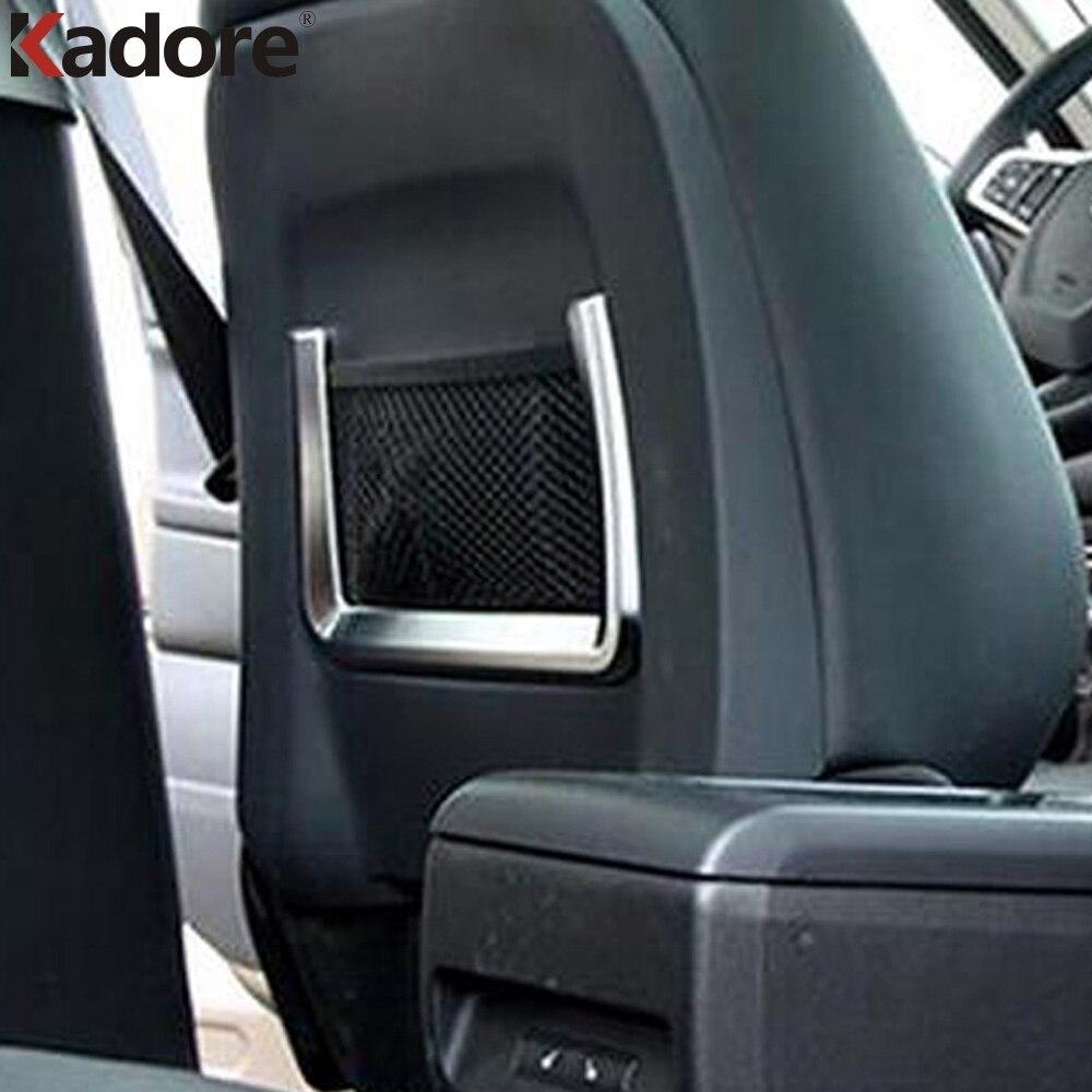 Pour Jaguar f-pace X761 2016 2017 ABS mat siège de voiture arrière stockage Net sac cadre couverture décoration plaque garnitures voiture style