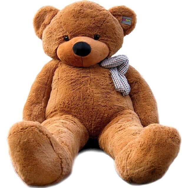 joyfay 78 200 cm dark brown giant teddy bear big stuffed. Black Bedroom Furniture Sets. Home Design Ideas