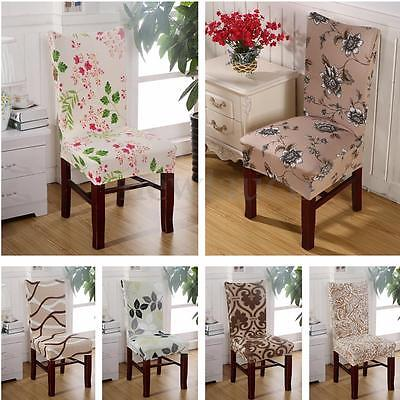 Removable Stretch Floral Chair Cover Kitchen Dining Room Wedding Banquet PartyChina Mainland