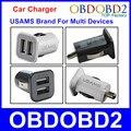 Универсальный Мини USAMS Автомобильное Зарядное Устройство Micro USB Авто Зарядное Устройство С Двумя USB Портами Питания Для Нескольких USB Powered Devices