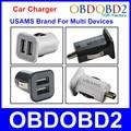 Universal Mini USB Carregador de Carro USAMS Micro Auto Charger Com Portas Duplas USB Fornecimento de Energia Para Vários Dispositivos USB Alimentado