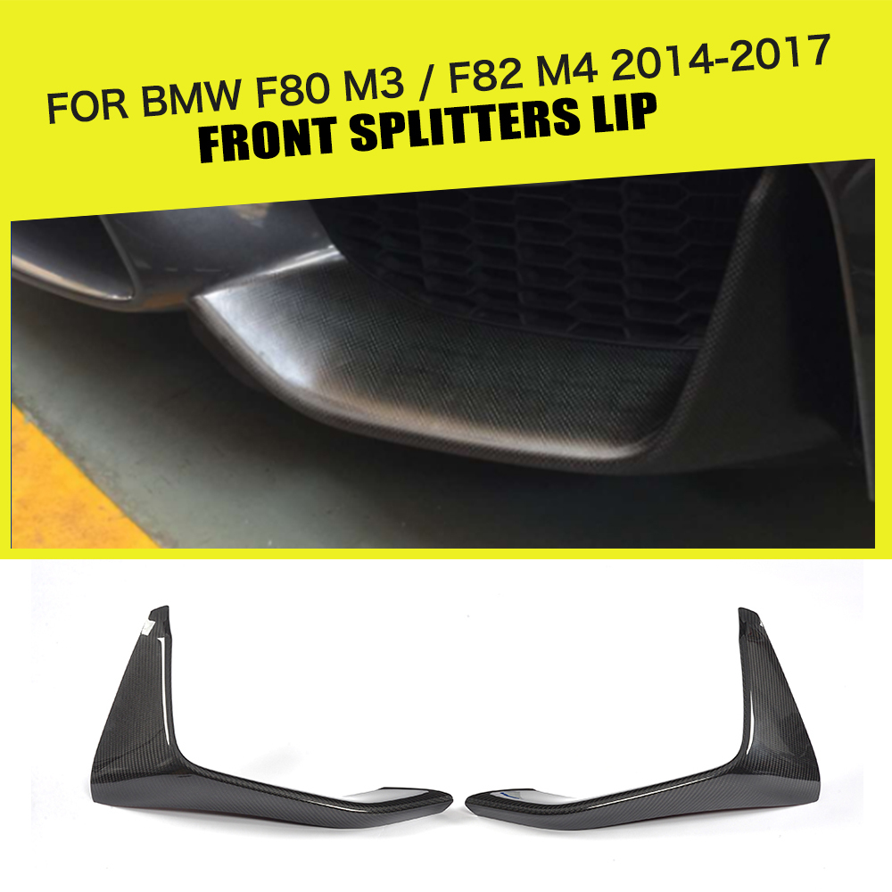Carbon Fiber Front Rear Bumper Lip Splitters Fog Lamp Trims for BMW F80 M3 Sedan F82 F83 M4 Coupe Convertible 2014 - 2018Carbon Fiber Front Rear Bumper Lip Splitters Fog Lamp Trims for BMW F80 M3 Sedan F82 F83 M4 Coupe Convertible 2014 - 2018