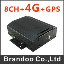 Inexpensive 8 channel 4G MDVR, used for school bus, shuttle bus, mini train, truck, FREE CMS client software, live video watchin