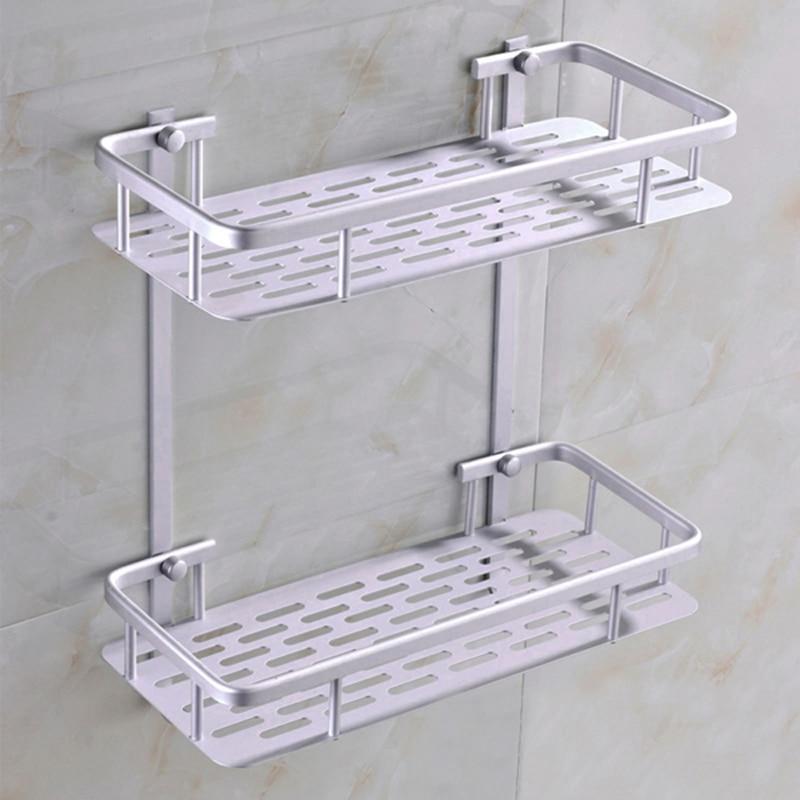 Fashion Dual Tier Bathroom Corner Shelf Basket Aluminum Alloy Kitchen  Bathroom Wall Mounted Bathroom Shower Caddy. Online Get Cheap Metal Corner Shelves  Aliexpress com   Alibaba Group