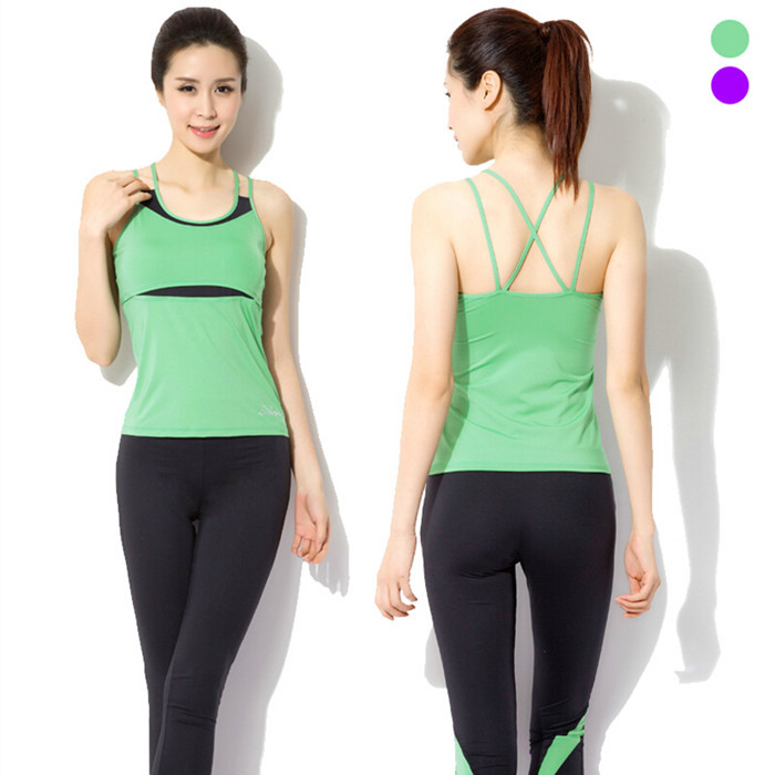 Women S Sports Fitness Clothing: Vest Leggings Pants Dance Running Gym Workout Wear Clothes