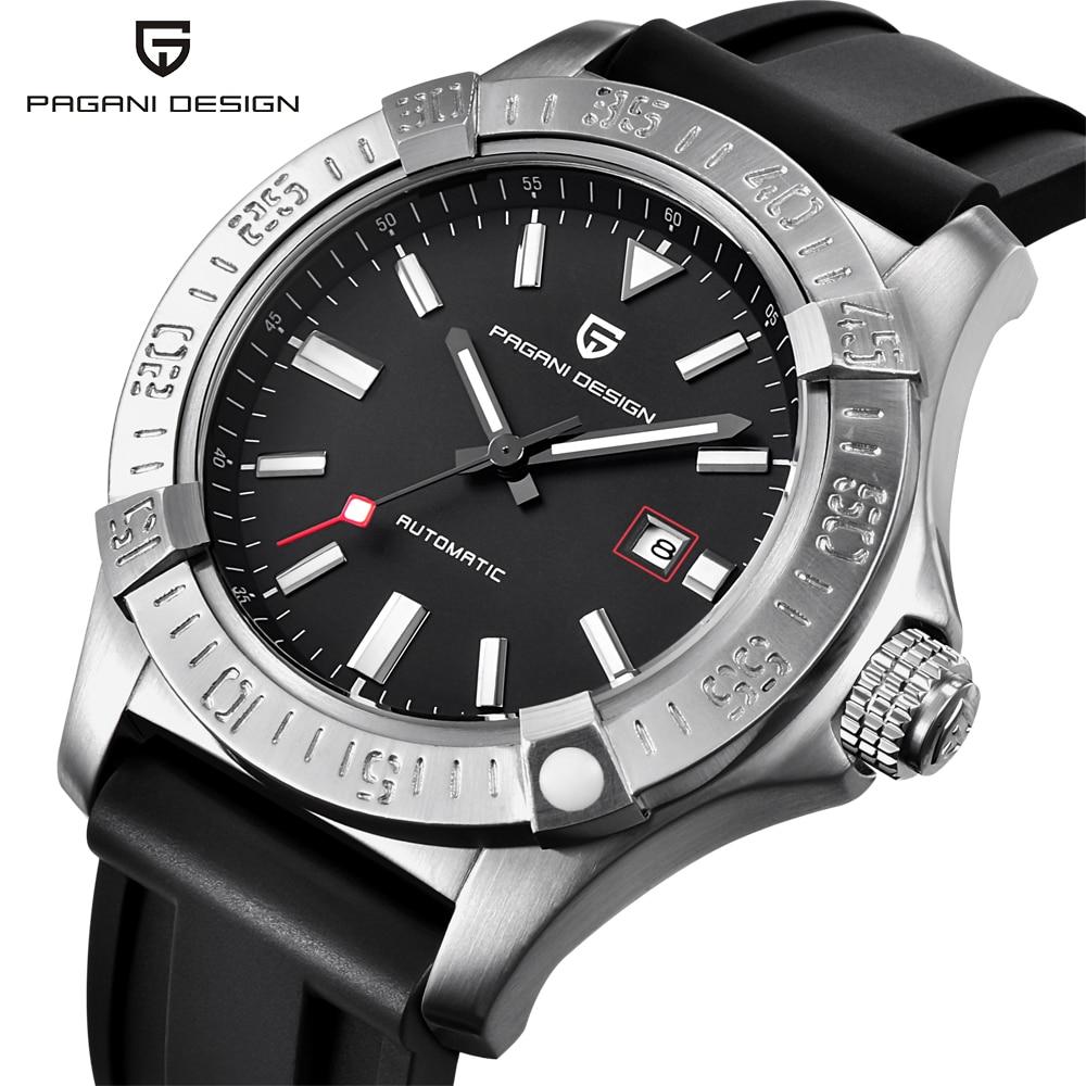PAGANI DISEGNO Mens Watches Top Luxury Classic Cinturino In Gomma Orologi Meccanici Moda Casual Impermeabile 30 M Automatic Watch saat-in Orologi meccanici da Orologi da polso su  Gruppo 1