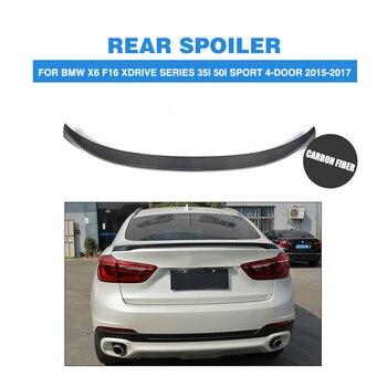 Dla BMW X6 F16 xDrive serii 2015 2016 2017 2018 tylny spojler bagażnika bagażnika wargi skrzydło z włókna węglowego/FRP car Styling