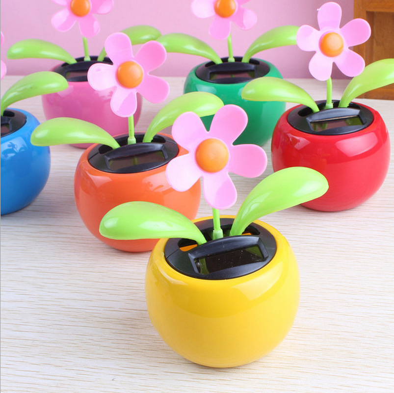 5a70079cd127b Does not apply. Solar Powered Dancing Flip Flap Flower Pot Style Toys Home  Car ...