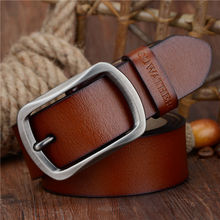 Fashion Cow Genuine Leather 2017 new men fashion vintage style male belts for men pin buckle 100-150cm waist size 30-52