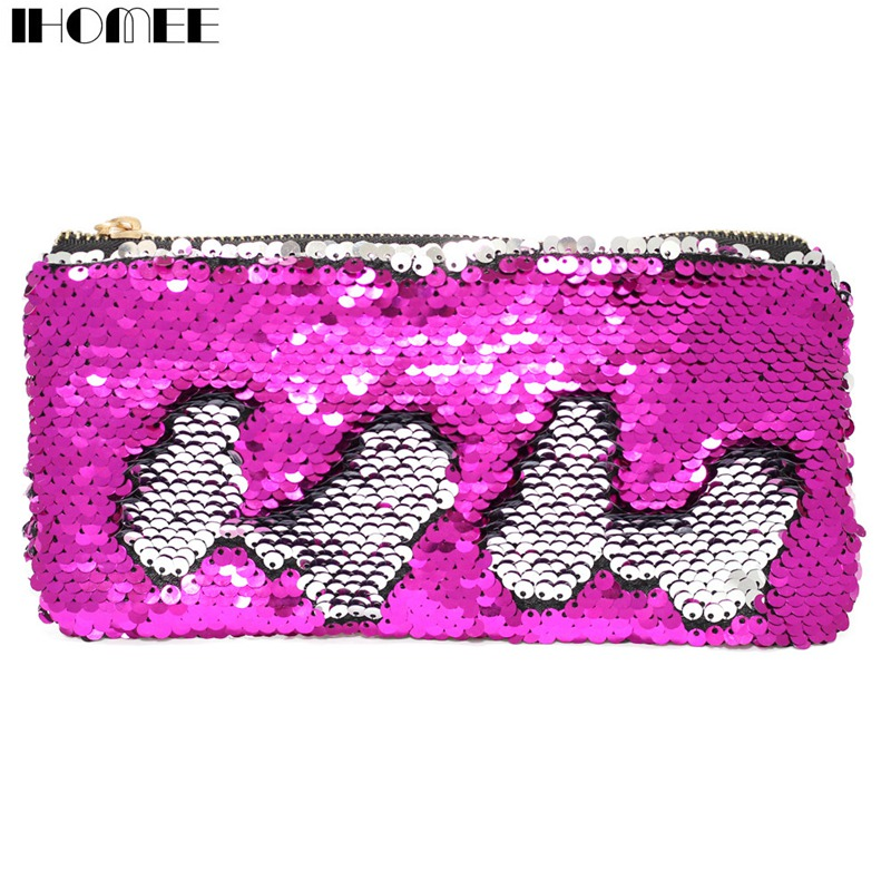 IHOMEE Women Girls Kids Children Glitter Mermaid Pencil Bags Coin ... 33d3d2306