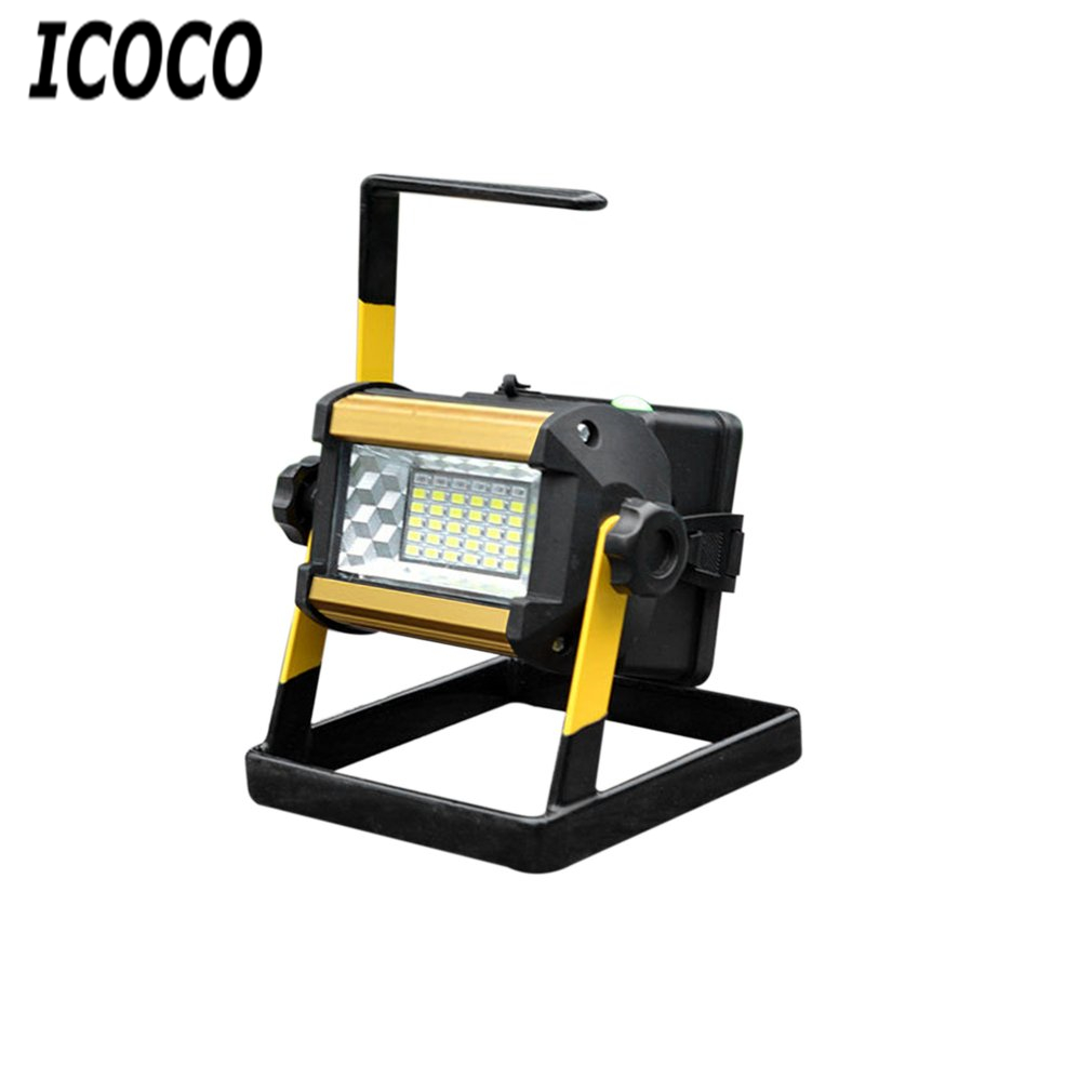 ICOCO 1pcs Rechargeable Wide Angle LED Projecotor Lamp Searchlight Mobile Warming Light Flood Light with Holder Drop Shipping