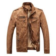 TUOLUNIU chaude marque qualité d'hiver hommes veste en cuir de manteau chaud de loisirs hommes veste moto vêtements veste en cuir classique