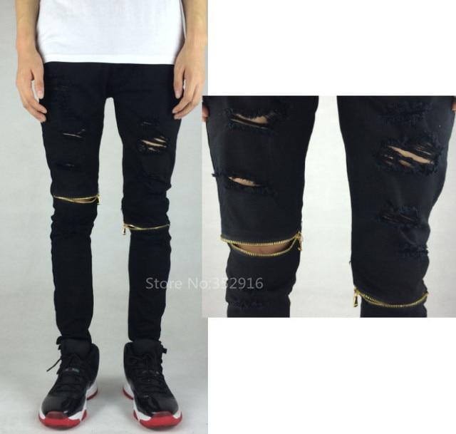 Mens Ripped Black Skinny Jeans - Xtellar Jeans